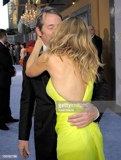 Matthew Broderick and Sarah Jessica Parker attend the premiere of 'Sex and the City 2' at Radio City Music Hall on May 24 2010 in New York City