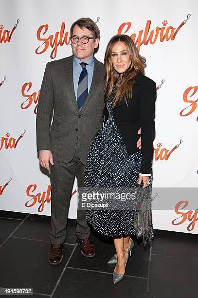 Matthew Broderick and Sarah Jessica Parker attend the 'Sylvia' opening night after party at Bryant Park Grill on October 27 2015 in New York City