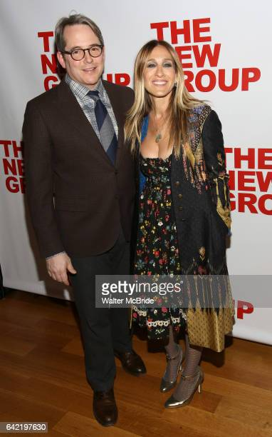 Matthew Broderick and Sarah Jessica Parker attends the opening night party for the New Group Production of Wallace Shawn's 'Evening at the Talk...