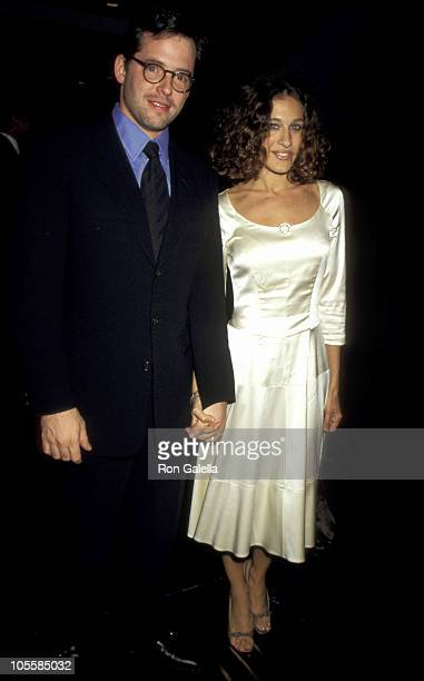 """Matthew Broderick and Sarah Jessica Parker during Premiere and Party for """"Extreme Measures"""" at Rainbow Room in New York City, New York, United States."""