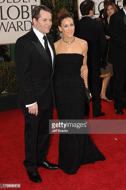 Matthew Broderick and Sarah Jessica Parker during The 63rd Annual Golden Globe Awards Red Carpet at Beverly Hilton Hotel in Beverly Hills California...
