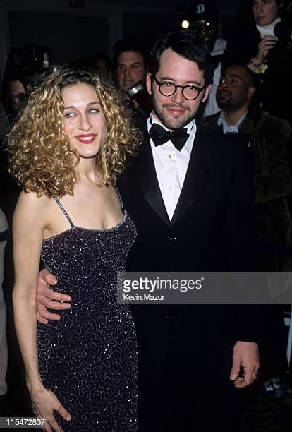 Matthew Broderick and Sarah Jessica Parker during Unicef 50th Anniversary in New York City, New York, United States.