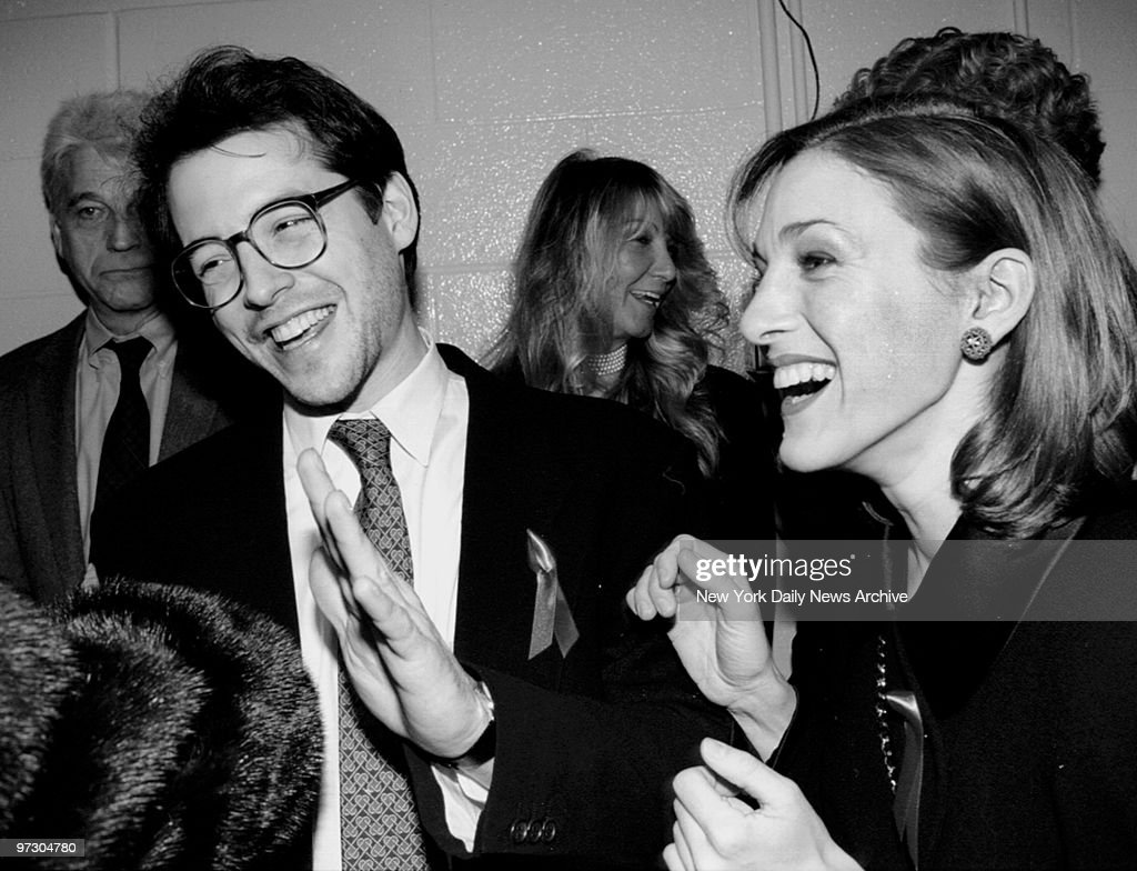 Matthew Broderick and Sarah Jessica Parker share a laugh at the DW Griffith Awards.