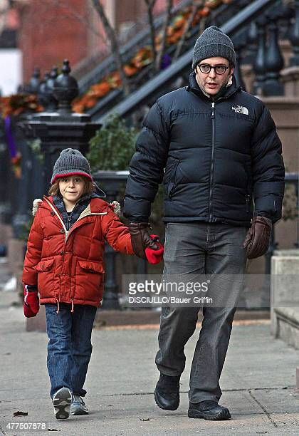 Matthew Broderick and son James Wilkie are seen on January 10 2011 in New York City