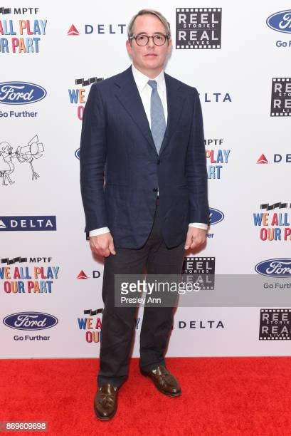 Matthew Broderick attends 6th Annual Reel Stories Real Lives Benefiting MPTF Arrivals at Milk Studios on November 2 2017 in Hollywood California
