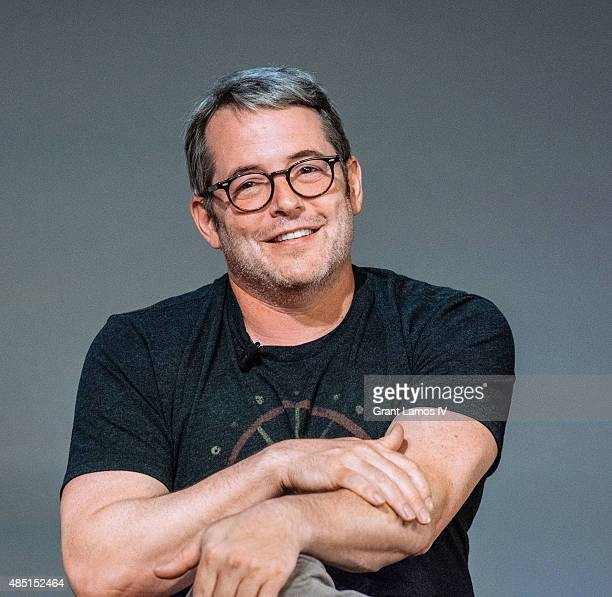 """Matthew Broderick attends the Apple Store Soho: Meet The Filmmaker: Neil LaBute and Alice Eve, """"Dirty Weekend"""" at Apple Store Soho on August 24, 2015..."""
