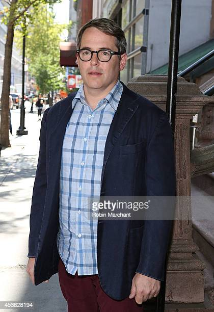 """Matthew Broderick attends the """"It's Only A Play"""" Cast Photocall at Joe Allen Restaurant on August 19, 2014 in New York City."""