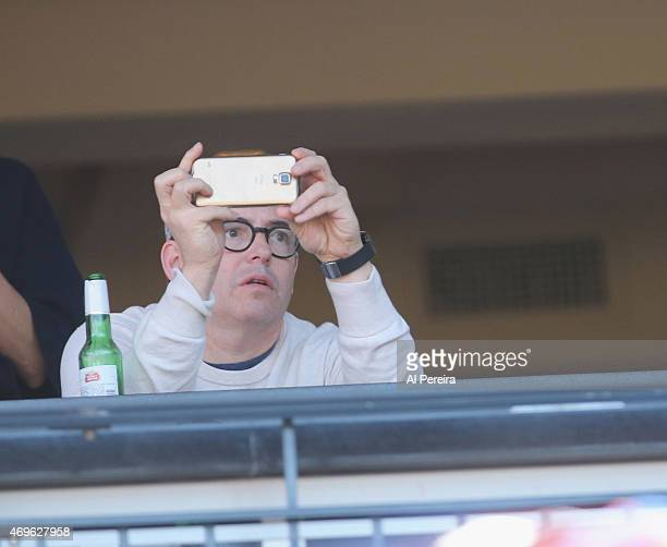Matthew Broderick attends the NY Mets home opener VS The Philadelphia Phillies at Citi Field on April 13 2015 in New York City