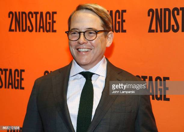 """Matthew Broderick attends the Torch Song"""" Off-Broadway opening night at Tony Kiser Theatre on October 19, 2017 in New York City."""