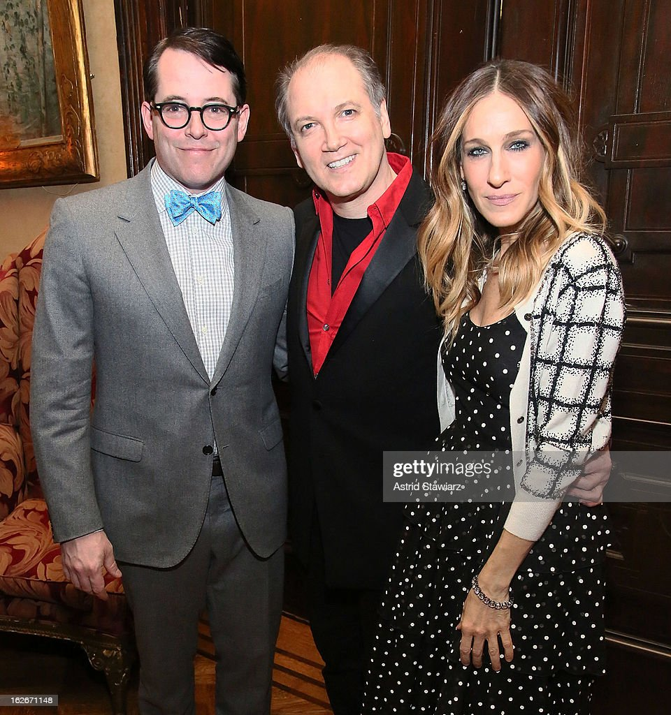 Matthew Broderick, Charles Busch and Sarah Jessica Parker attend the 10th Annual Love 'N' Courage Benefit For TNC's Emerging Playwrights Program at The National Arts Club on February 25, 2013 in New York City.