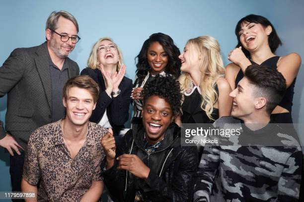 Matthew Broderick Colin Ford Sophie Simnett Austin Crute Jeanté Godlock Alyvia Alyn Lind Gregory Kasyan and Krysta Rodriguez of Daybreak pose for a...