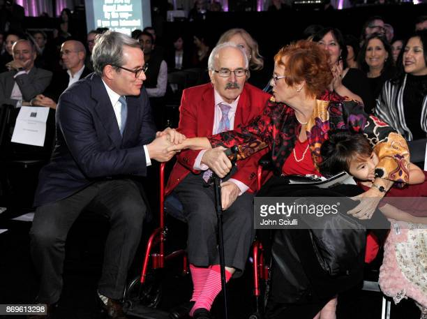 Matthew Broderick Dick McCoy and Mary McCoy at the 6th Annual Reel Stories Real Lives event benefiting MPTF at Milk Studios on November 2 2017 in...