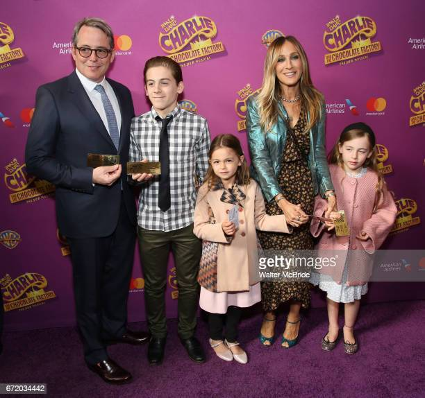 Matthew Broderick James Wilkie Broderick Sarah Jessica Parker Marion Loretta Broderick Tabitha Broderick attend the Broadway Opening Performance of...