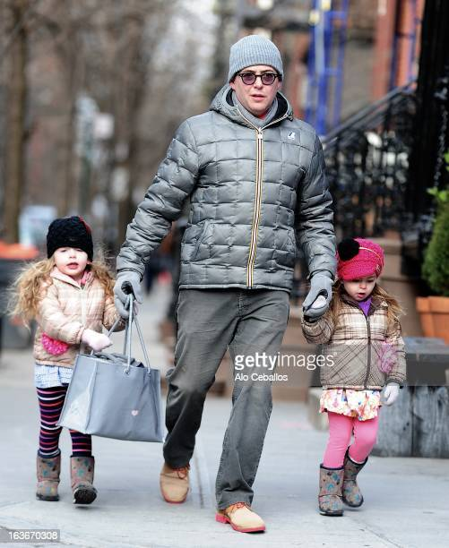 Matthew Broderick Marion Loretta Elwell Broderick and Tabitha Hodge Broderick are seen in the West Village on March 14 2013 in New York City