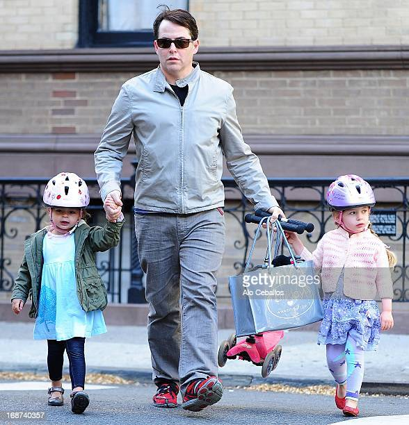 Matthew Broderick Marion Loretta Elwell Broderick and Tabitha Hodge Broderick are seen in the West Village on May 14 2013 in New York City