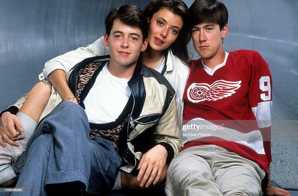 Matthew Broderick And Alan Ruck In 'Ferris Bueller's Day Off' : News Photo