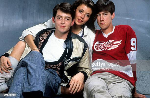 Matthew Broderick Mia Sara and Alan Ruck publicity portrait for the film 'Ferris Bueller's Day Off' 1986
