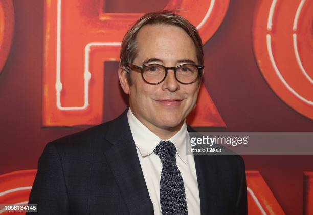 """Matthew Broderick poses at the opening night of """"Torch Song"""" on Broadway at The 2nd Stage Helen Hayes Theater on November 1, 2018 in New York City."""