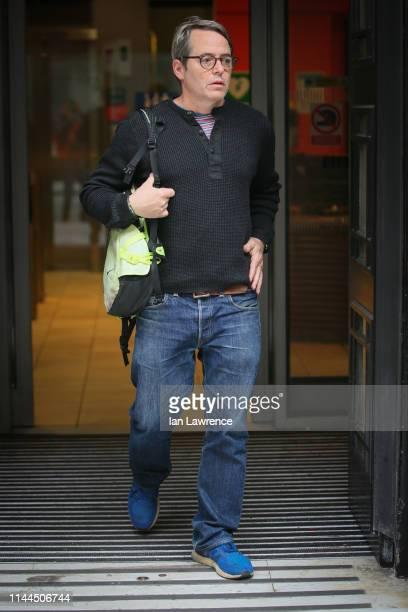 Matthew Broderick promoting his new West End Theatre play 'The Starry Messenger' at BBC Radio Two Studios on April 23 2019 in London England