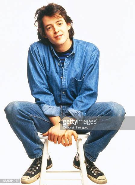 Matthew Broderick Sitting on Stool