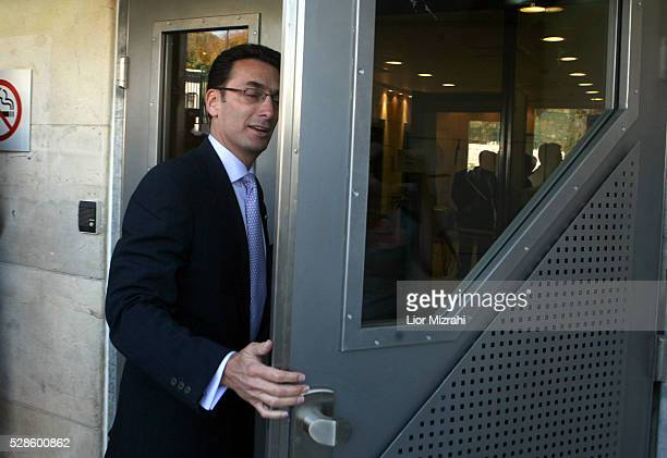 Matthew Bronfman son of Edgar M Bronfman and an heir to the Canadian family that founded liquor maker Seagram Co is seen at the entrance to the...