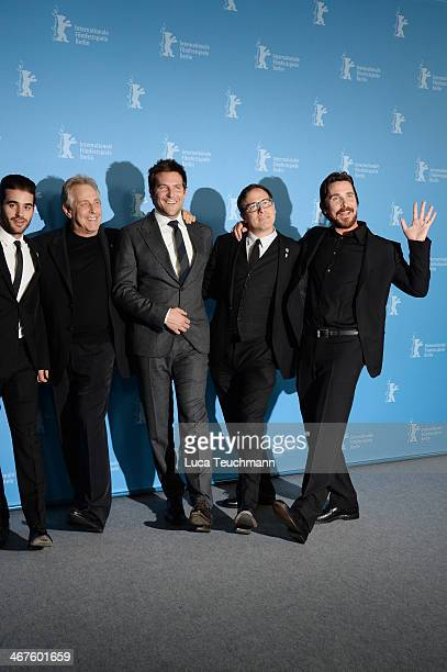 Matthew Budman Charles Roven Bradley Cooper David O Russell and Christian Bale attend the 'American Hustle' photocall during 64th Berlinale...