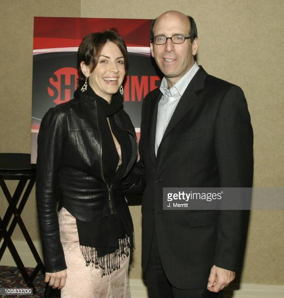 Matthew C Blank and Michelle Clunie during Showtime Networks Presentation to The Television Critics Association at The Hollywood Renaisssance Hotel...