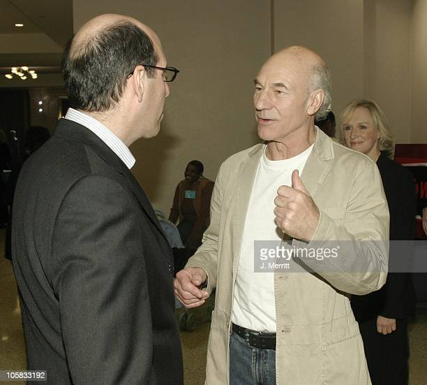 Matthew C Blank and Patrick Stewart during Showtime Networks Presentation to The Television Critics Association at The Hollywood Renaisssance Hotel...
