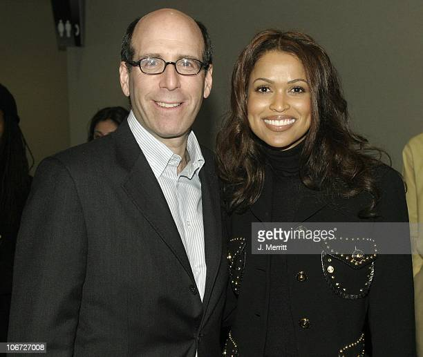 Matthew C Blank and Tracey E Edmonds during Showtime Networks Presentation to The Television Critics Association at The Hollywood Renaisssance Hotel...