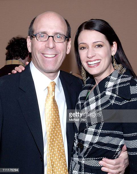 Matthew C Blank chairman and ceo of Showtime Entertainment with Paget Brewster