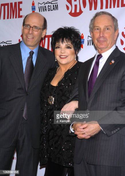 Matthew C Blank Chairman and CEO of Showtime Liza Minnelli and Michael Bloomberg Mayor of New York
