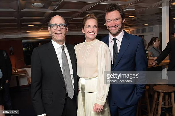 Matthew C Blank Chairman and CEO Showtime Networks actress Ruth Wilson and actor Dominic West attend premiere of SHOWTIME drama The Affair held at...