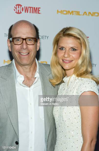 Matthew C Blank Chairman CEO Showtime and actress Claire Danes attend the Showtime and Cinema Society premiere of Homeland at a Private Residence on...