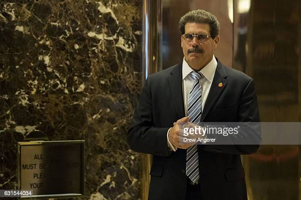 Matthew Calamari an executive vice president with the Trump Organization stands in the lobby at Trump Tower January 12 2017 in New York City On...