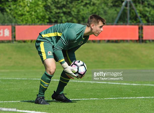 Matthew Campbell of Blackburn Rovers in action during the Liverpool v Blackburn U18 game at the Kirkby Academy on August 15 2016 in Kirkby England