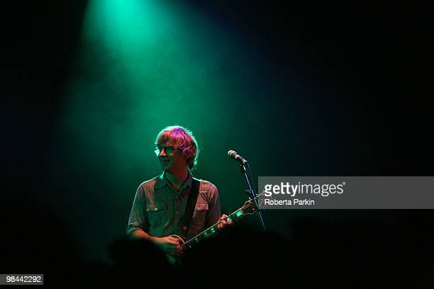 Matthew Caws of Nada Surf performs at ICA on April 13 2010 in London England