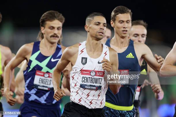 Matthew Centrowitz competes in the Men's 1,500 Meter Run Final during day ten of the 2020 U.S. Olympic Track & Field Team Trials at Hayward Field on...
