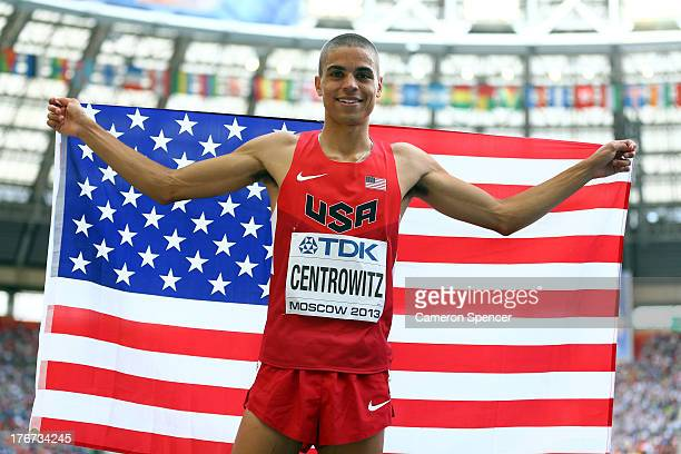 Matthew Centrowitz of the United States celebrates winning silver in the Men's 1500 metres final during Day Nine of the 14th IAAF World Athletics...