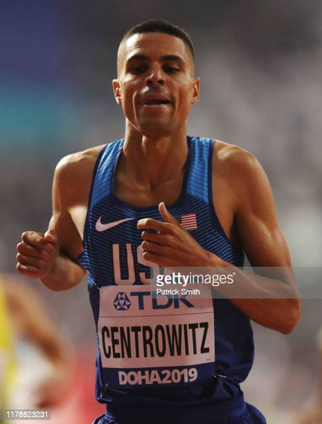 Matthew Centrowitz of the United States competes in the Men's 1500 Metres heats during day seven of 17th IAAF World Athletics Championships Doha 2019...