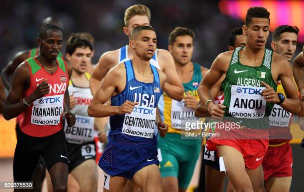 Matthew Centrowitz of the United States competes in the mens 1500 metres heats during day seven of the 16th IAAF World Athletics Championships London...