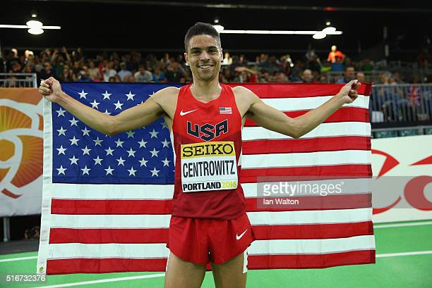 Matthew Centrowitz of the United States wins gold in the Men's 1500 Metres Final during day four of the IAAF World Indoor Championships at Oregon...