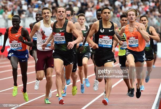 Matthew Centrowitz of the USA in the Mens 1500m in the IAAF Diamond League Muller Anniversary Games at The Queen Elizabeth Olympic Park on July 22...