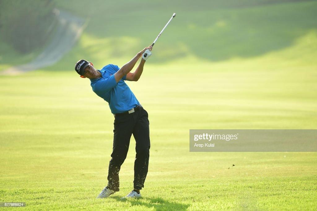 Matthew Cheung of Hong Kong pictured during round one of the UBS Hong Kong Open at The Hong Kong Golf Club on November 23, 2017 in Hong Kong, Hong Kong.