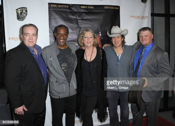 Matthew D Hunt Tim Russ Deborah Hartwell Christian Kane and Jason F Knittle arrive for the Los Angeles Premiere of 'Miles To Go' held at Writers...