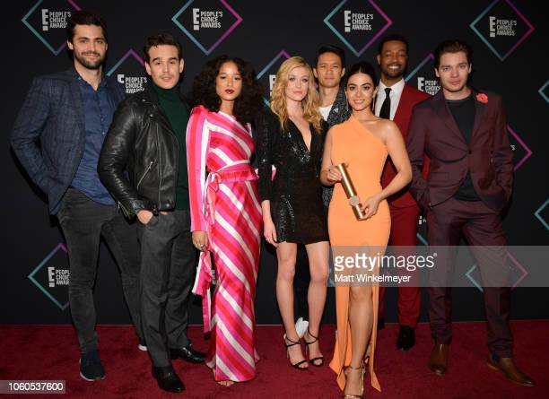 Matthew Daddario Alberto Rosende Alisha Wainwright Katherine McNamara Harry Shum Jr Emeraude Toubia Isaiah Mustafa and Dominic Sherwood of...
