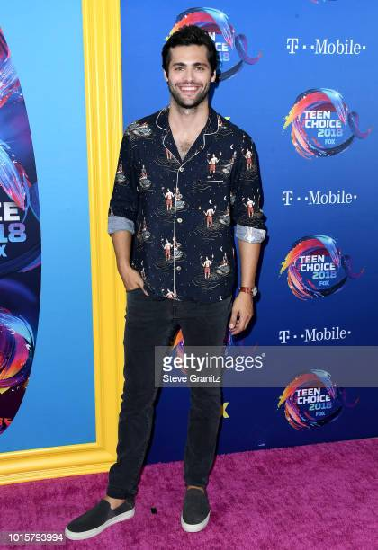 Matthew Daddario attends FOX's Teen Choice Awards at The Forum on August 12 2018 in Inglewood California