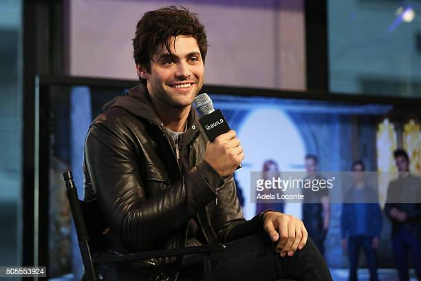 Matthew Daddario discusses Shadowhunters at AOL Studios In New York on January 18 2016 in New York City