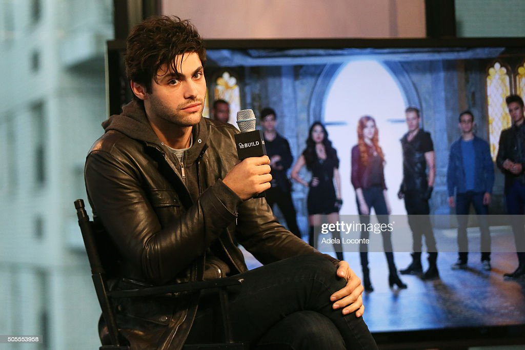 Matthew Daddario discusses 'Shadowhunters' at AOL Studios In New York on January 18, 2016 in New York City.