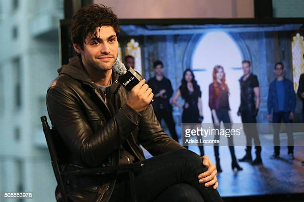 Matthew Daddario discusses 'Shadowhunters' at AOL Studios In New York on January 18 2016 in New York City