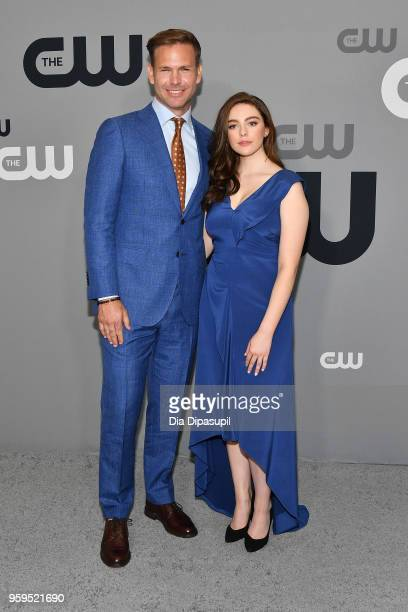 Matthew Davis and Danielle Rose Russell attend the 2018 CW Network Upfront at The London Hotel on May 17 2018 in New York City